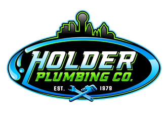 Holder Plumbing Co. logo design