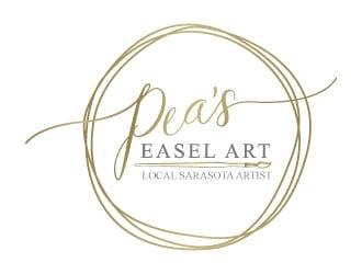 Peas Easel Art (tagline...Local Sarasota Artisit) logo design