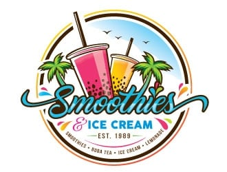 Smoothies & Ice Cream  logo design