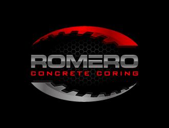 Romero concrete coring logo design