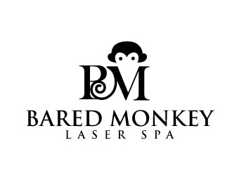 Bared Monkey Laser Spa logo design