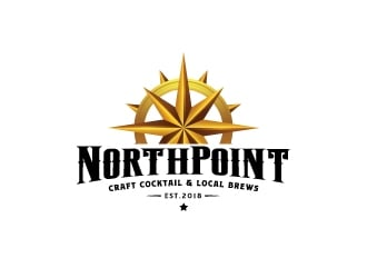 Northpoint (tag line, Craft Cocktail and Local Brews) logo design
