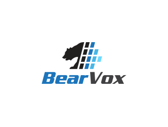 BearVox media logo design