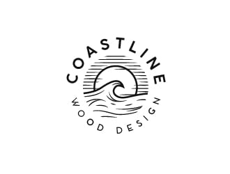 Coastline Wood Design logo design