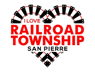 I Love Railroad Township logo design