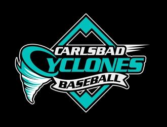 Carlsbad Cyclones Baseball logo design