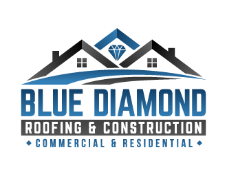 Blue Diamond Roofing & Construction logo design