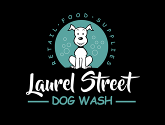 Laurel Street Dog Wash logo design
