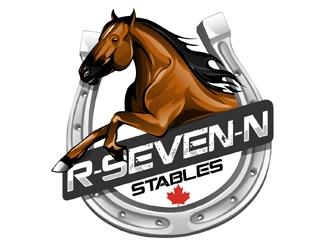 R-Seven-N Stables logo design