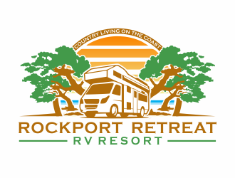Rockport Retreat RV Resort logo design