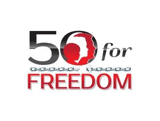 50 for Freedom logo design by litera