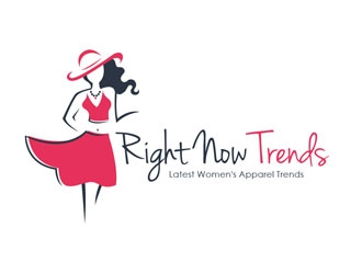Right Now Trends logo design