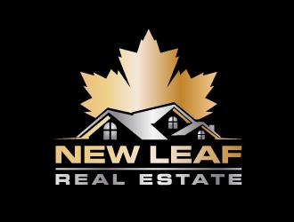 NEW LEAF REAL ESTATE logo design
