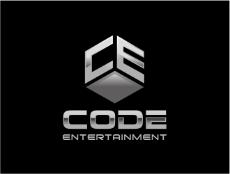 Code entertainment  logo design