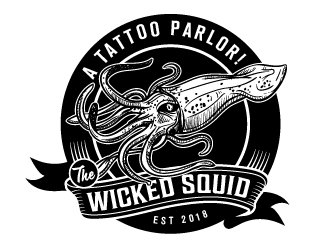 The Wicked Squid logo design