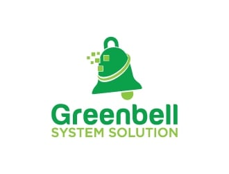 Greenbell System Solution logo design
