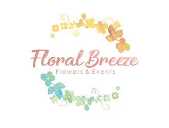 Floral Breeze Flowers & Events logo design