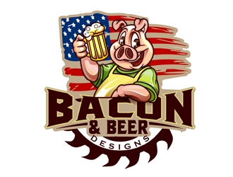 BACON & BEER DESIGNS   logo design