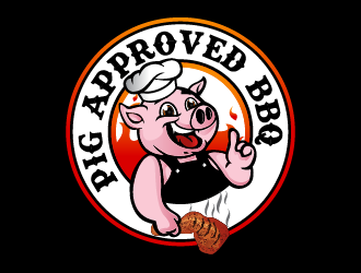 Pig Approved BBQ logo design