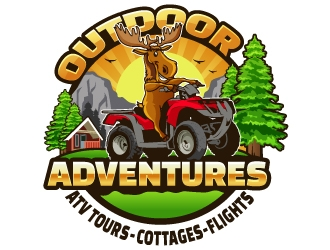 Outdoor Adventures  tagline = ( ATV Tours - Cottages- Flights ) logo design