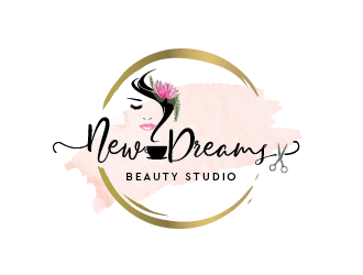 New Dreams Beauty Studio logo design