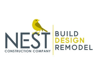 Nest Construction Company logo design