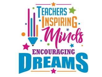 Teachers: Inspiring Minds, Encouraging Dreams logo design winner