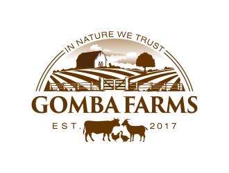 Gomba Farms logo design