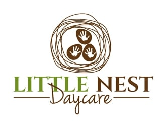Little Nest Daycare logo design