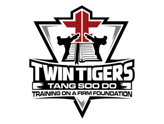 Twin Tigers Martial Arts logo design