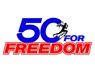 50 for Freedom logo design