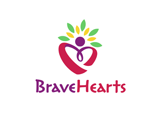 Brave Hearts logo design