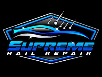 Supreme Hail Repair logo design