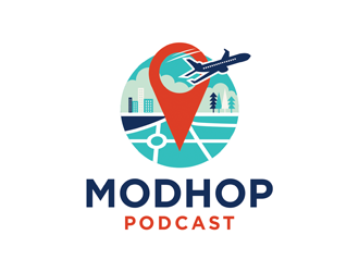 The Modhop Podcast logo design