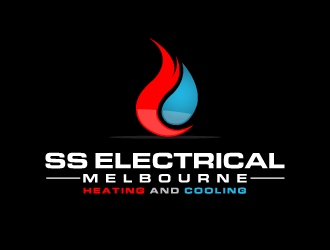 SS ELECTRICAL MELBOURNE (HEATING AND COOLING) logo design