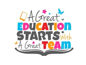 A Great Education Starts With A Great Team logo design