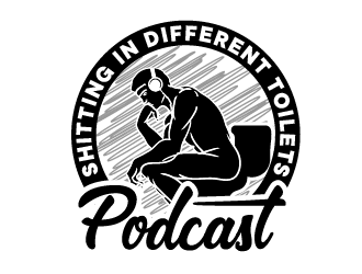 Shitting in Different Toilets Podcast logo design