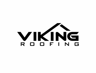 Viking Roofing logo design