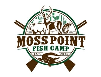 Moss Point Fish Camp logo design