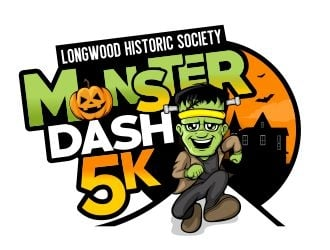 Monster Dash 5K logo design