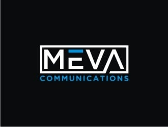 Meva Communications logo design