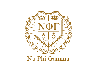 Nu Phi Gamma Crest (No Fucks Given) logo design