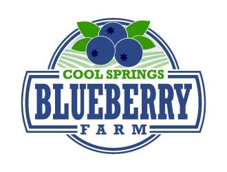 Cool Springs Blueberry Farm logo design