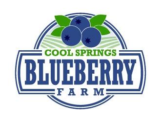 Cool Springs Blueberry Farm logo design