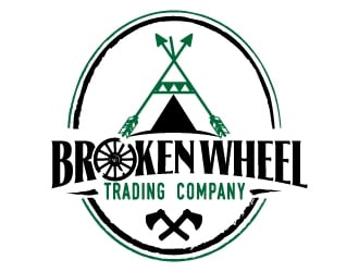 Broken Wheel Trading Company logo design