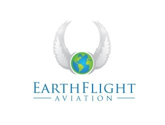 EarthFlight Aviation logo design