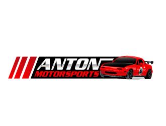 Anton Motorsports  logo design