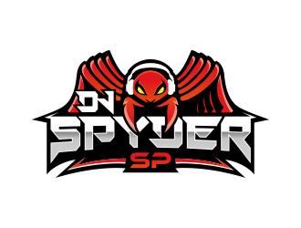 DJ SPYDER SP logo design