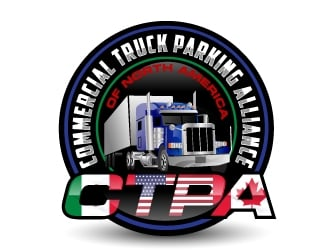 Commercial Truck Parking Alliance Of North America logo design