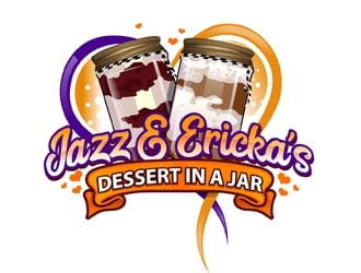 Jazz & Ericka's Dessert In a Jar logo design